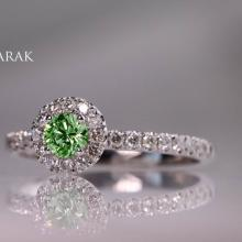 Engagement ring, Danielle Barak, color diamonds, diamonds, diamond jewelry, color jewelry